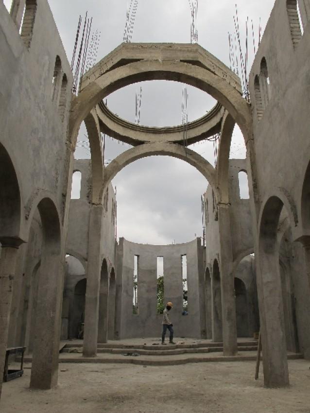 Строящаяся церковь св. Фотинии
