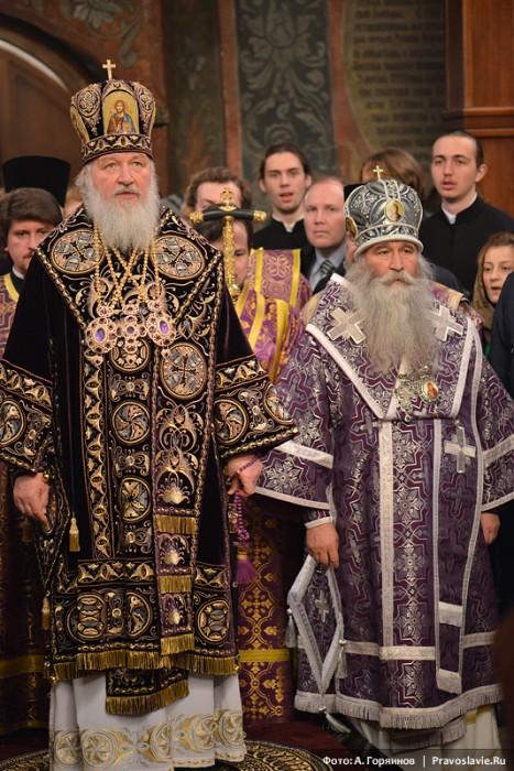 Святейший Патриарх Кирилл и епископ Дмитровский Феофилакт