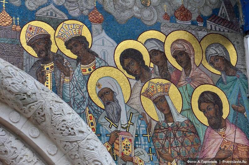 Феодоровский храм в Царском селе. Внешние фрески