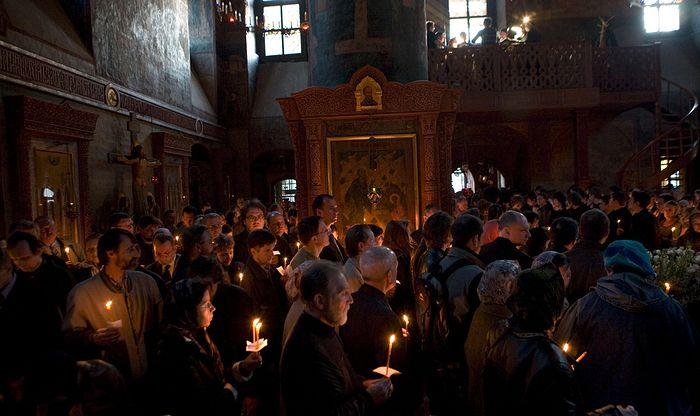 Великопостная служба в Сретенском монастыре. Фото: М. Родионов / Православие.Ru