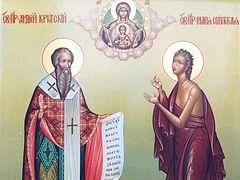Вечернее богослужение в Сретенском монастыре в среду 5-й седмицы Великого поста