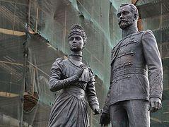 Monument Tsar Nicholas II and Tsaritsa Alexandra opened in St. Petersburg