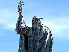 Освящение памятника Патриарху Ермогену