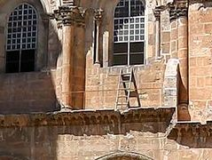 The Immovable Ladder at the Church of the Holy Sepulchre