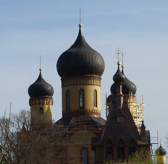 The Domes of the monastery's Dormition Cathedral