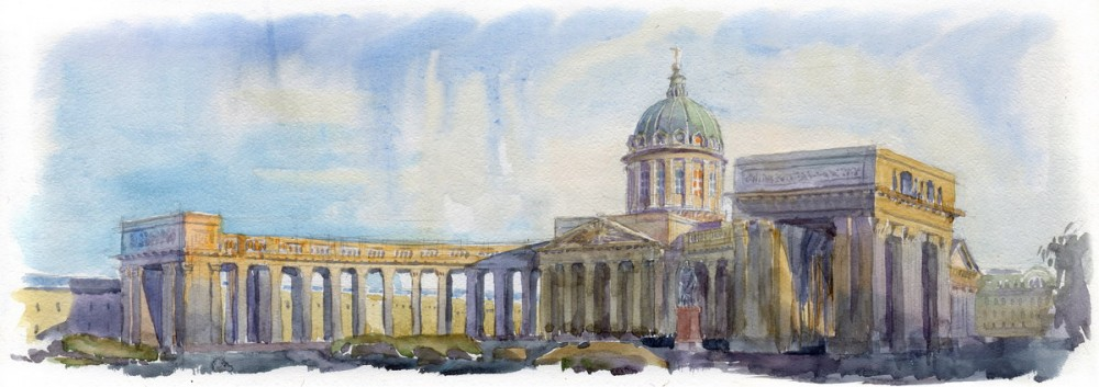 The Kazan Cathedral on Nevsky Avenue, St. Petersburg