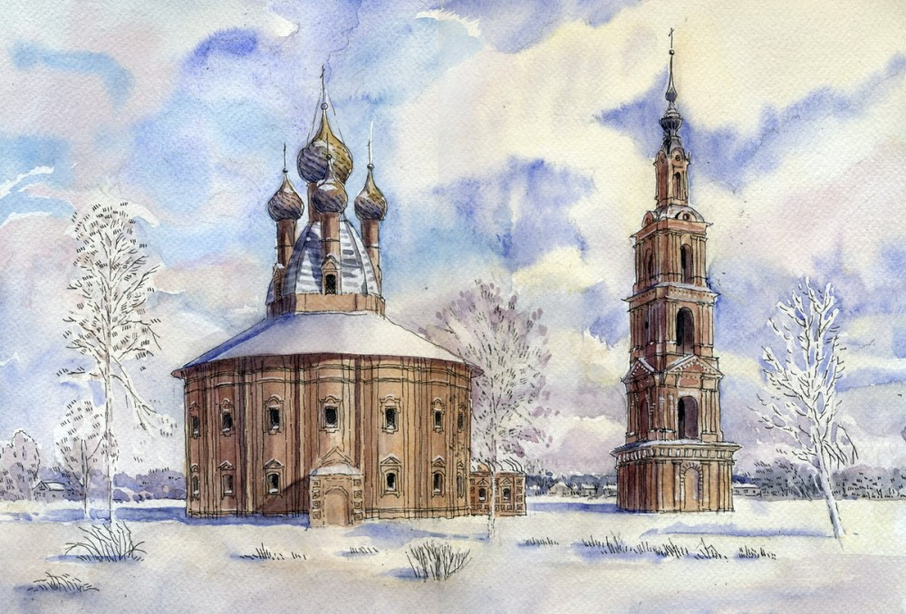 The Kazan Church in the village of Kurba, Yaroslavl provice