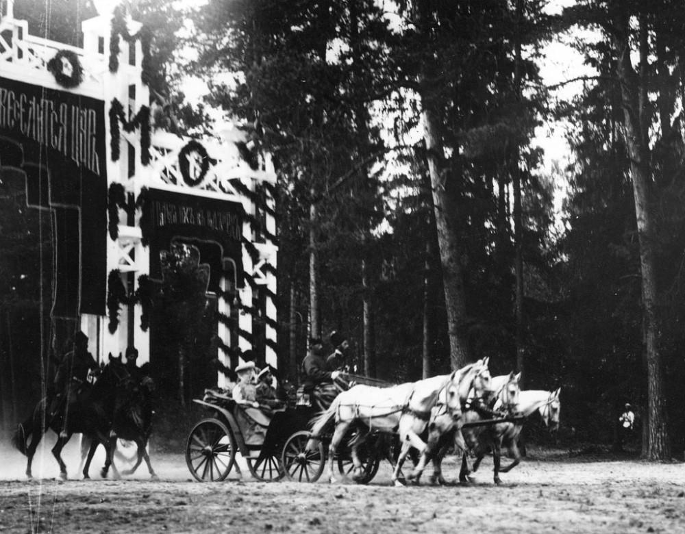 Торжественный въезд императорской кареты на Тамбовскую землю