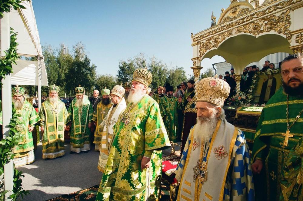 Патриархи Алексий Московский и Павел Сербский