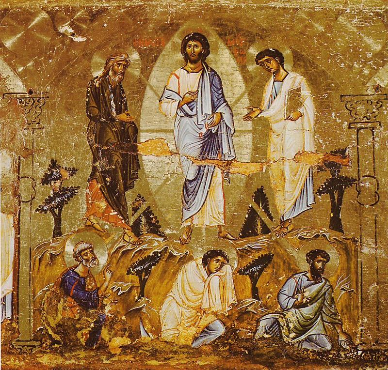 Преображение Господне. Икона. Монастырь св. Екатерины, Синай. XII в.