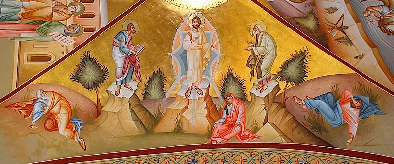 Преображение Господне. Фреска. Монастырь Преображения, г. Фавор. XX в.
