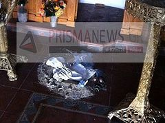 An Orthodox Church desecrated on Crete by neo-pagans