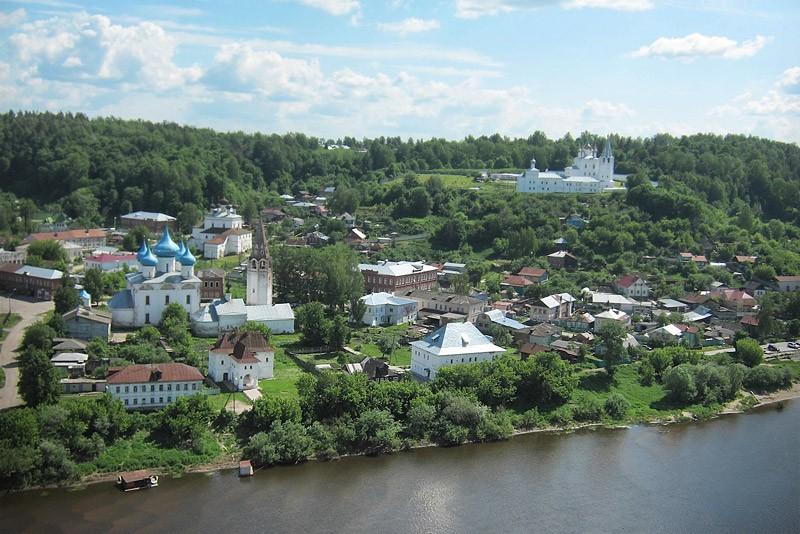 Панорама церквей города Гороховец