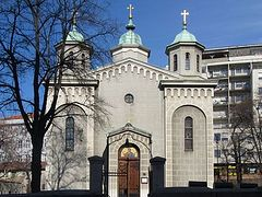 Act of vandalism committed on the territory of a church in Belgrade
