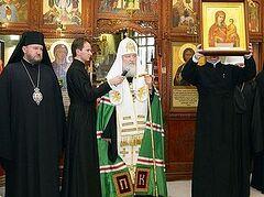 Святейший Патриарх Кирилл посетил подворье Русской Православной Церкви в Белграде