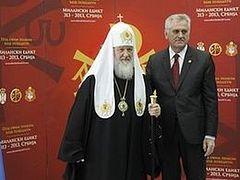 Патриарх Кирилл принял участие во встрече Предстоятелей и представителей Поместных Церквей с Президентом Сербии Т. Николичем