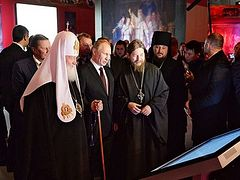 Патриарх Кирилл возглавил церемонию открытия выставки «Православная Русь»