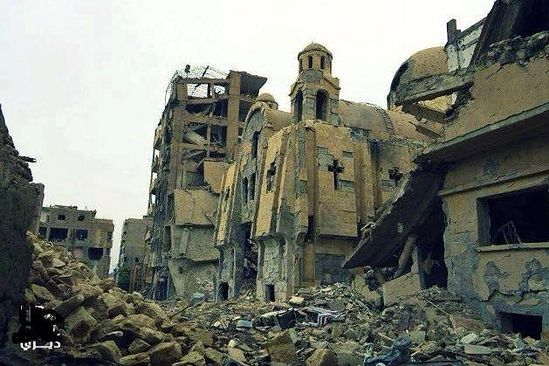 Over 60 churches and monasteries were destroyed by ISIS.