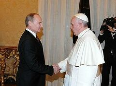 Владимир Путин встретился с Папой Римским Франциском