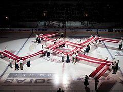 За демонстрацию свастики оштрафован на 1 млн рублей рижский хоккейный клуб