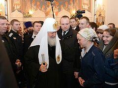 Патриарх Кирилл посетил заключенных в московском СИЗО
