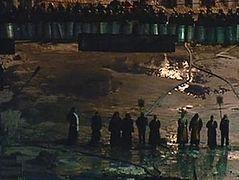 В Киеве монахи вновь стали между баррикадами