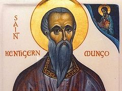 Holy Hierarch Kentigern (Mungo) of Strathclyde, Bishop of Glasgow, Wonderworker