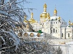 В Киеве время ожидания в очереди к Дарам волхвов составляет около получаса