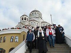 Патриарх Кирилл: Когда будете выходить на старт, вспомните и мои слова