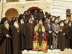 New Abbot of Mt. Athos Grigoriou Monastery enthroned