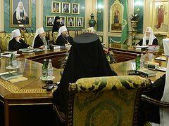 ЖУРНАЛЫ заседания Священного Синода