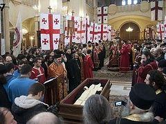 Святые мощи прп.Гавриила (Ургебадзе) переносят в монастырь Самтавро