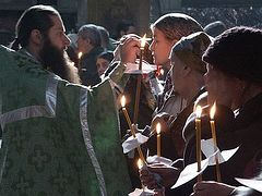 Holy Wednesday. The service of Holy Unction