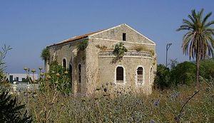 The church at al-Bassa, as pictured in 2008. Photo via Wikipedia commons.  Source: http://www.pravoslavie.ru/english/70389.htm © Pravoslavie.Ru