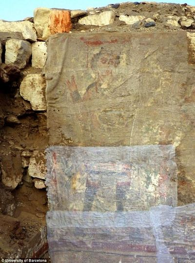 La imagen de Cristo cree pintada por los primeros cristianos coptos.