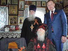 В Кунгуре поздравили с Днем Победы 101-летнего схимонаха Кукшу