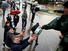 В Москве открылся пункт сбора помощи для пострадавших от наводнения в Сербии