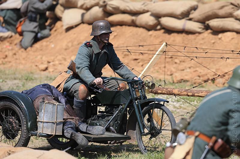 Мотоцикл времен Первой мировой