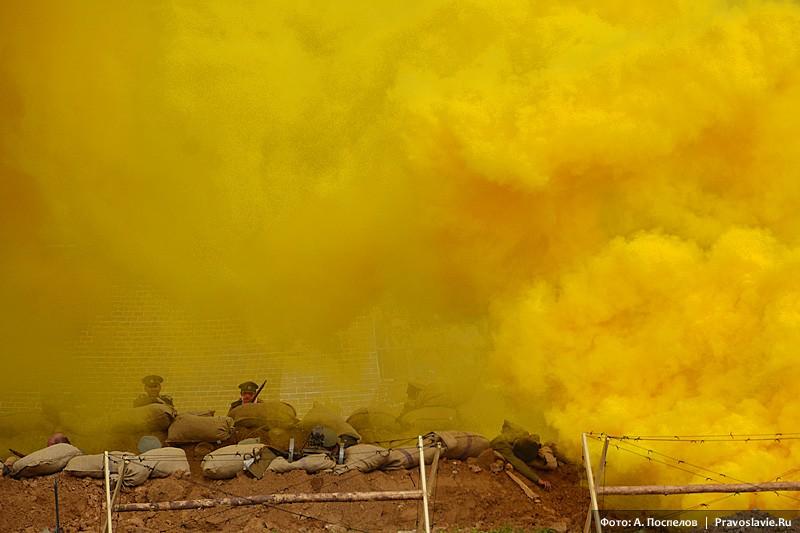 Применение газов против русских защитников крепости