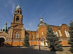 Cathedral of St. Alexander Nevsky in Sloviansk shelled