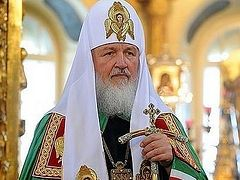 His Holiness Patriarch Kirill: There can be no winner in civil war