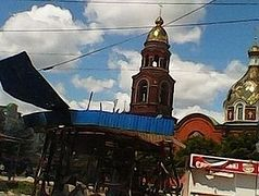 St. Alexander Nevsky Cathedral in Sloviansk again shelled during the Sunday Liturgy