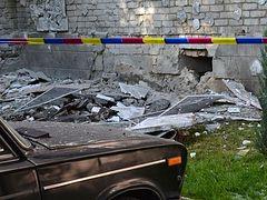 Ukrainian artillery shells convent in Lugansk