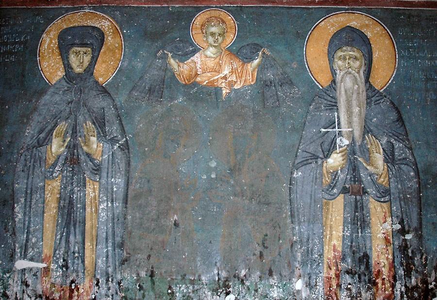 Преподобные Симеон Мироточивый и Анна Неманичи - родители свт. Саввы Сербского