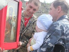 """Procession of the Cross with the Icon """"Look with Favor at Humility"""" Takes Place in the Remotest District of Kolyma"""
