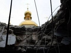 Church of St. Sergius of Radonezh Damaged By Shelling on Its Feast Day