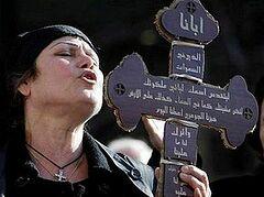 Изгнанные из Мосула христиане провели демонстрацию в Эрбиле