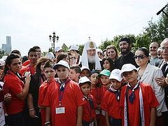 Patriarch Kirill Meets with a Group of Orphaned Children from Syria