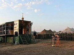Для курских военных установили передвижную церковь