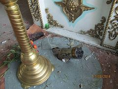 """Church of Sts. Peter and Paul in Mospino village of Donetsk region shelled by """"hail"""" missiles"""